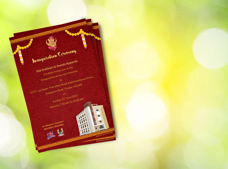 inauguration ceremony invitation