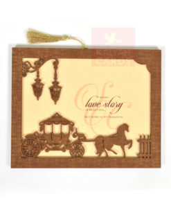 Wood Wedding Cards