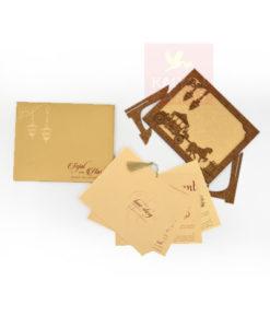 Wood wedding cards