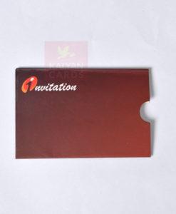 Atm card type wedding card