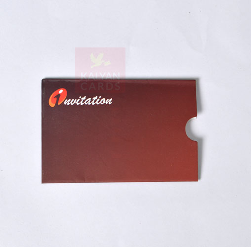 Atm card type wedding card