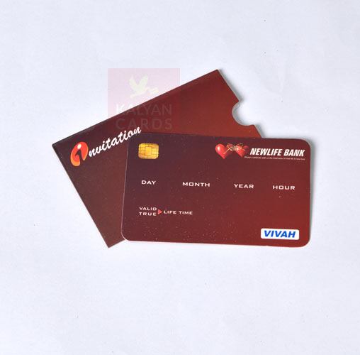 ATM Style Invitation Cards with envelops