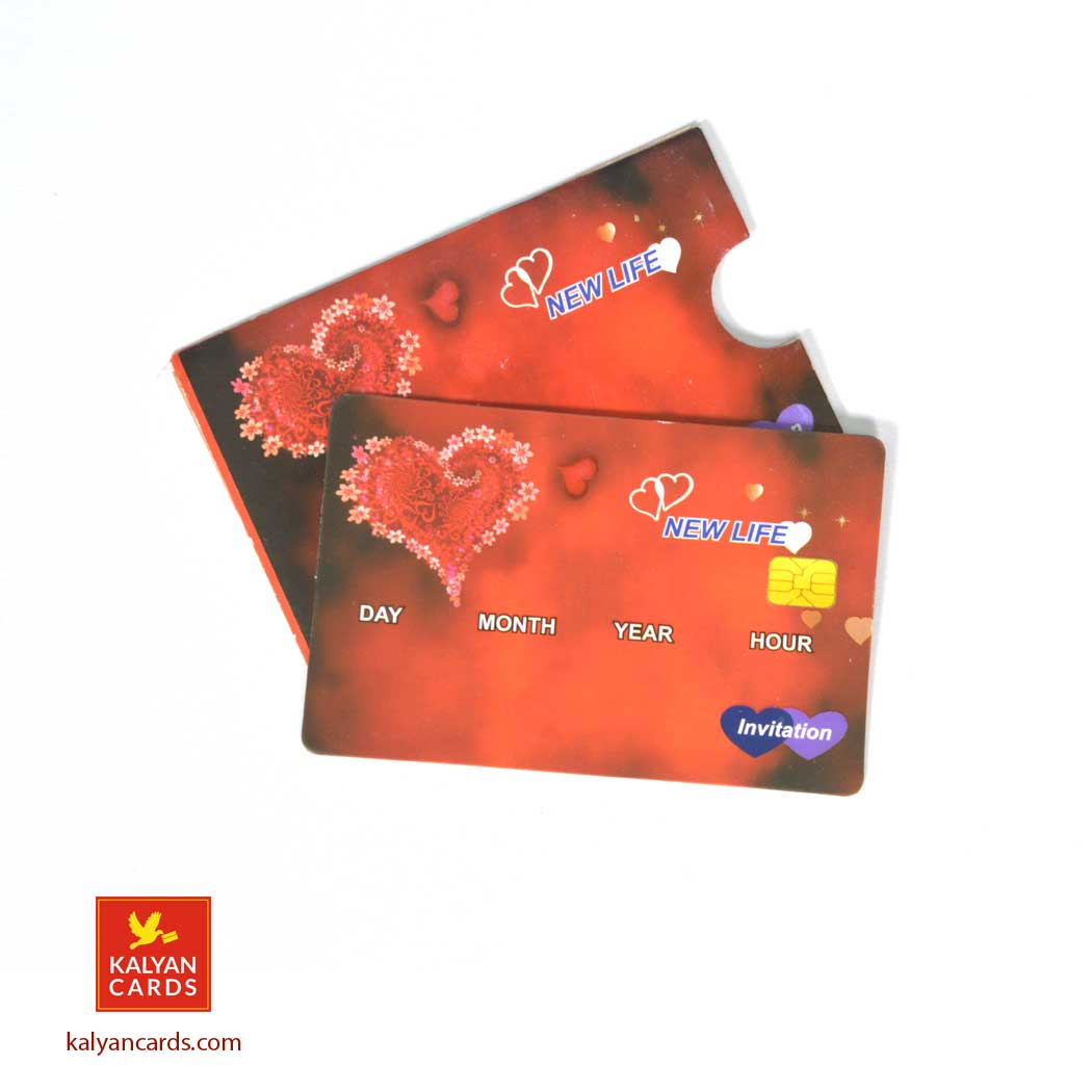 Atm Card Style Wedding Invitation Cards Pack Of 50