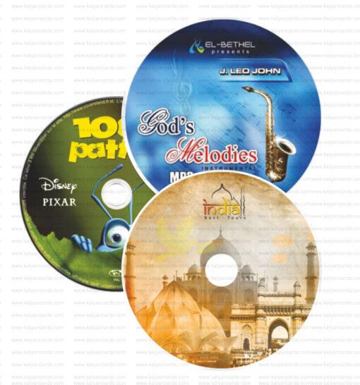 CD DVD Sticker die cut finished