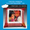 Cross Ribbon Pillow Square shape