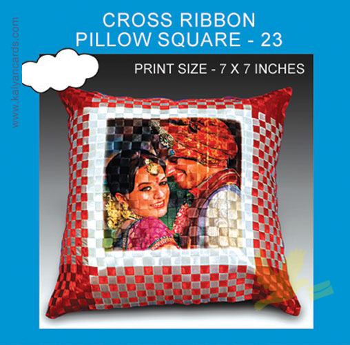 Cross Ribbon Pillow Square shape