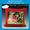 Magenta Velvet Pillow Square type