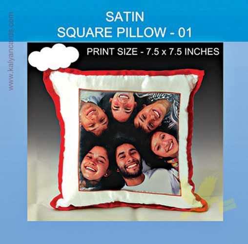 Satin square pillow