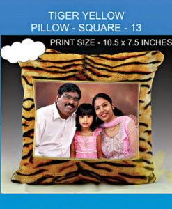 Tiger Yellow Pillow Square