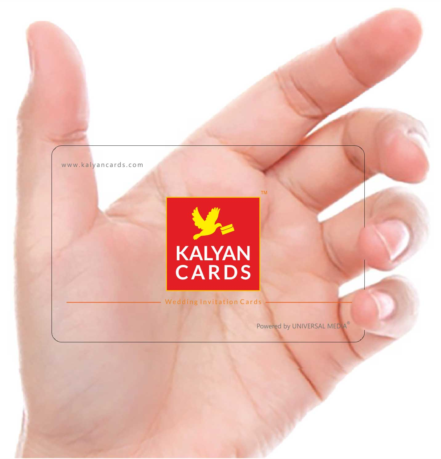 Plastic Transparent Visiting card Print in tirupur