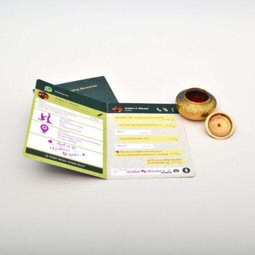 Printing Whatsapp invitation cards