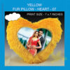Heart Yellow Fur Pillow