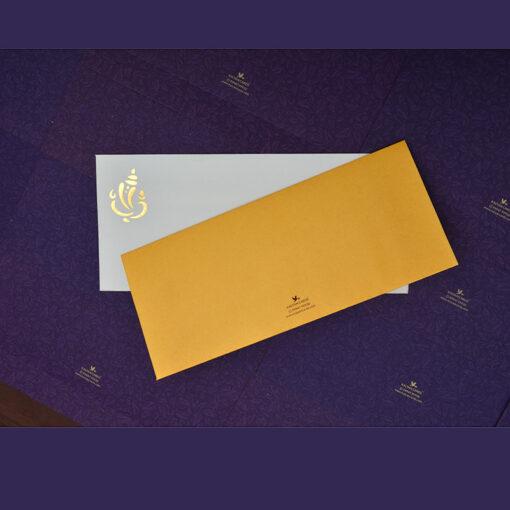 Wedding Cards Golden Yellow