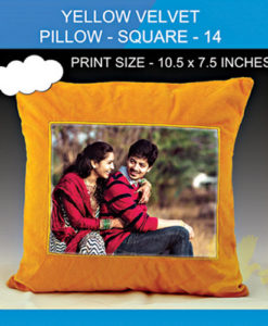 Yellow Velvet Pillow