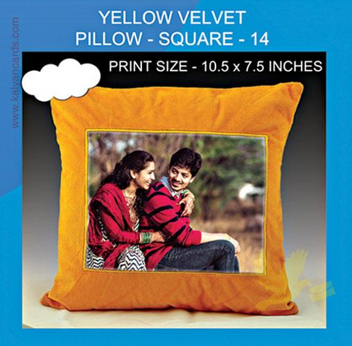 Yellow Velvet Pillow