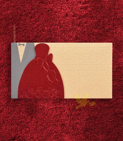 Double Happiness Wedding Invitation Card