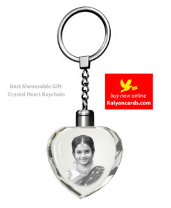 2d Crystal Key chain custom heart shape