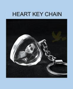 2d crystal key chain heart
