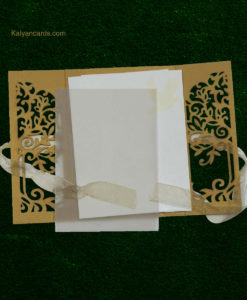 Laser-cut Invite with ribbons