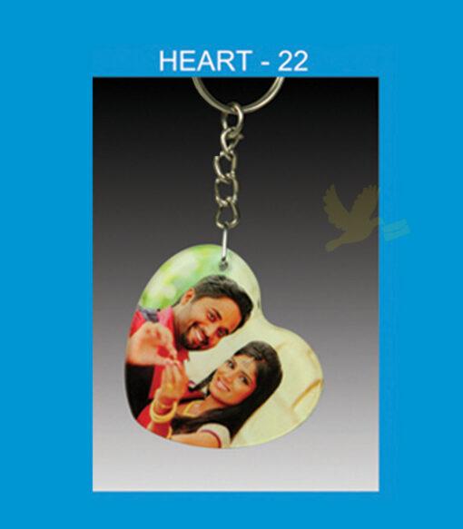 heart acrylic key chain double side