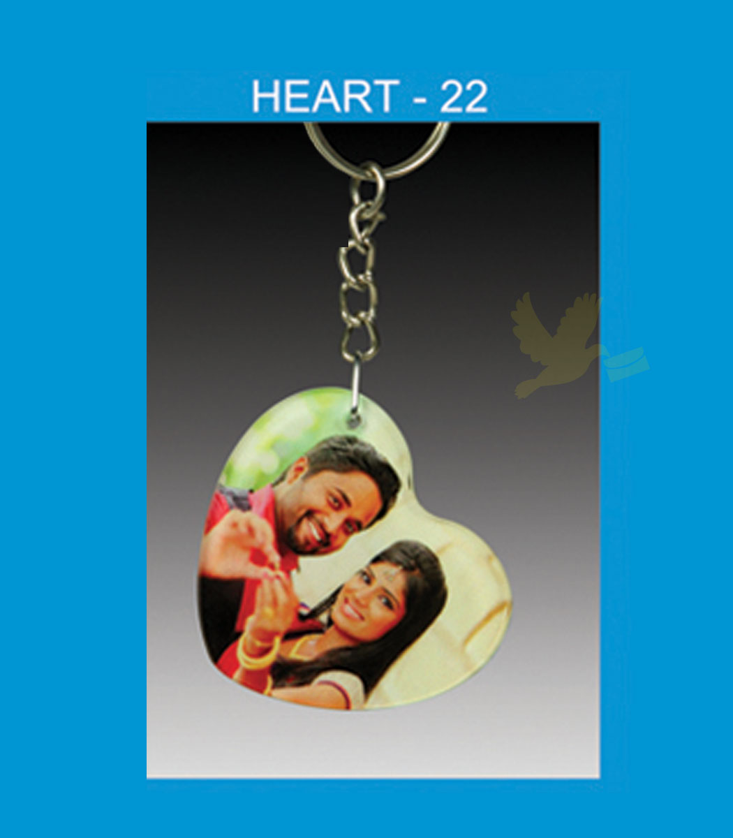 heart acrylic key chain double side
