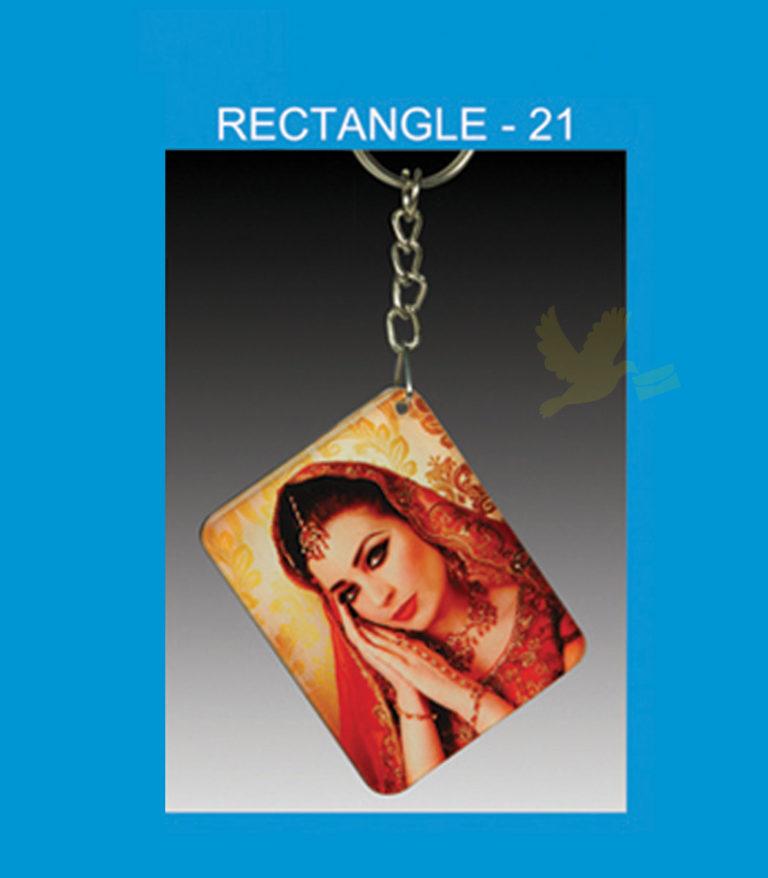 Rectangle Acrylic Key Chain Double side