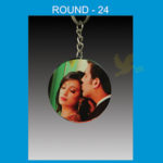 Round Acrylic Key Chain Double side