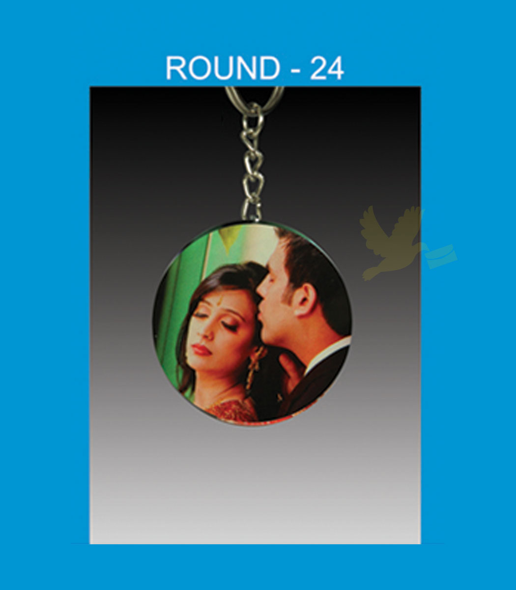 Round Acrylic Key Chain Double side