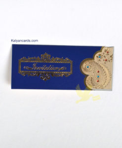 Blue invitation cards cover page