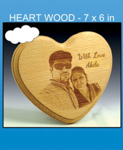 laser engraved heart wooden photos frames