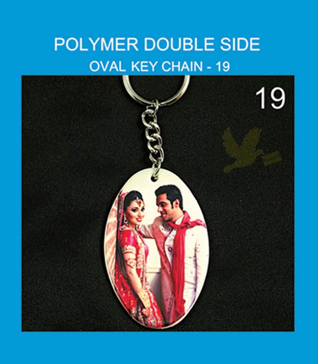 Polymer Double Side Oval Key chains