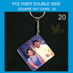 Polymer Double Side Square Key chains
