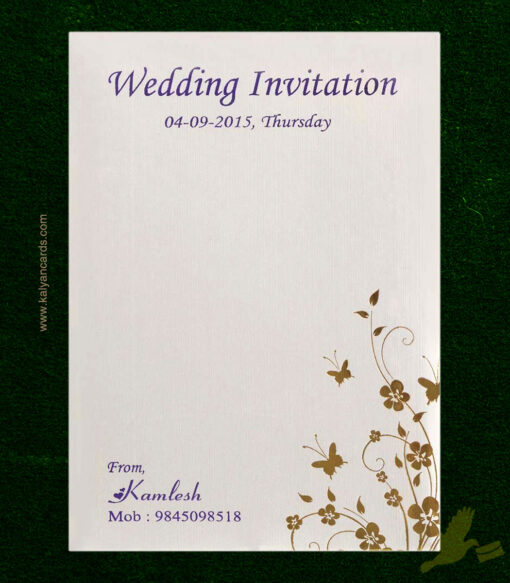 purple butterfly wedding cards cover