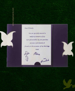 purple butterfly invitations cards
