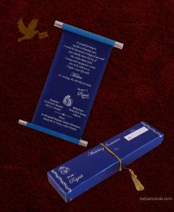 Scrolling Wedding Invitation Cards