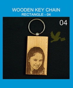 Wooden Rectangle keychains