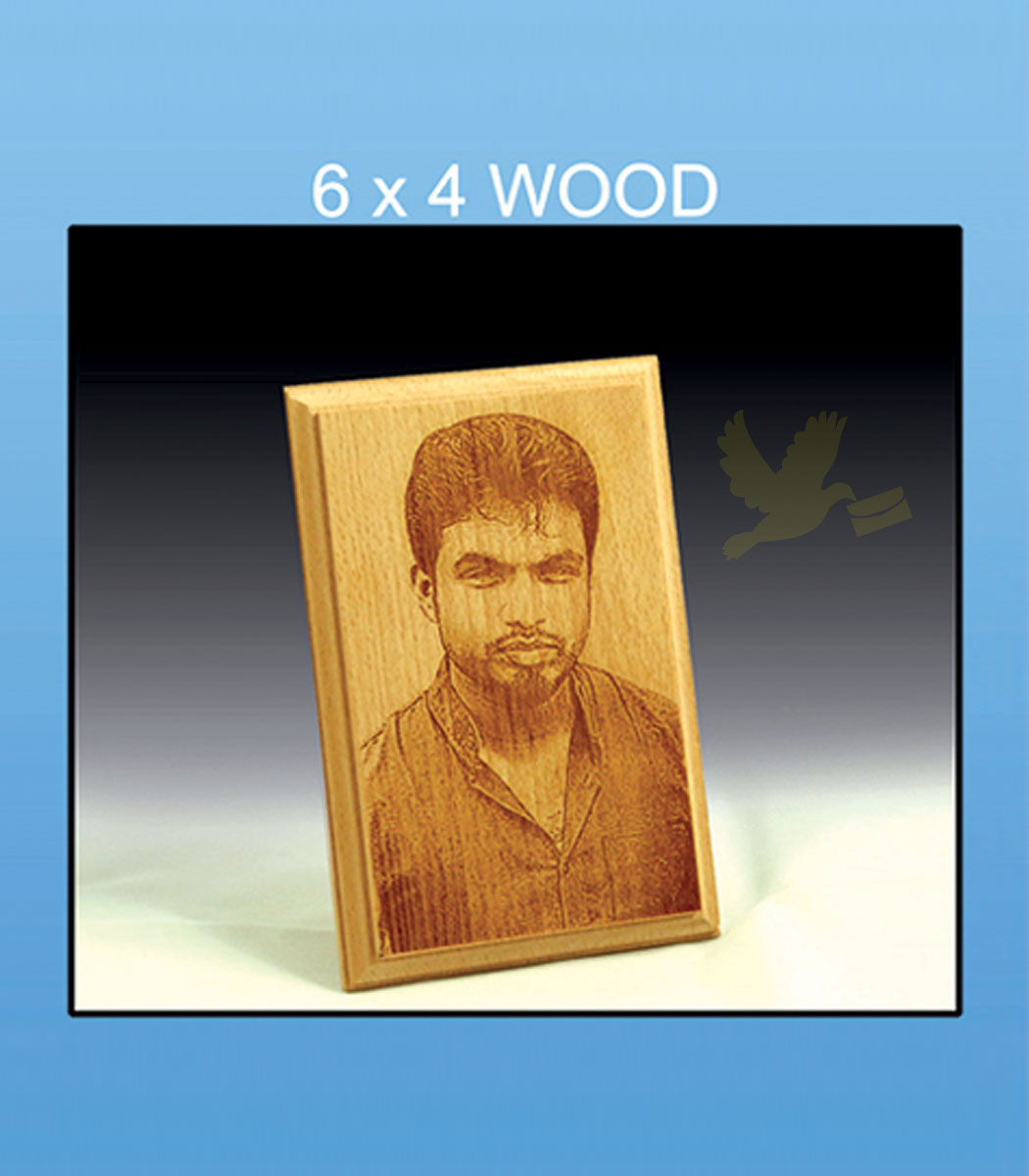 Wooden Photo Gift Engraved Low Price Tirupur