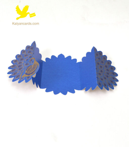 Peacock invitation cards style