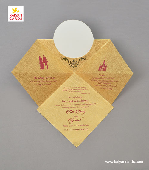 Kerchief Bag Personal Wedding Cards Pack Of 50cards